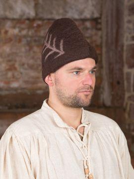 Chapeau médiéval rustique marron