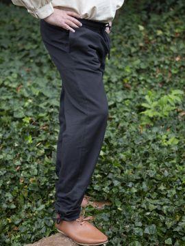 Pantalon médiéval avec cordon de serrage noir