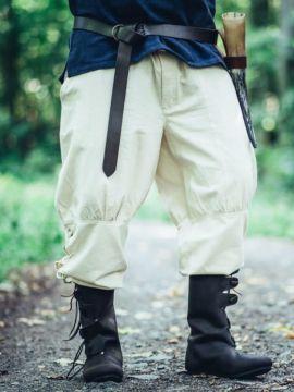 Pantalon médiéval à jambes lacées