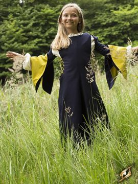 Robe de damoiselle, bleu foncé