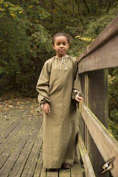 Chainse médiéval pour enfant en vert kaki