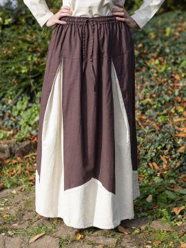 Jupe médiévale bicolore avec dentelle