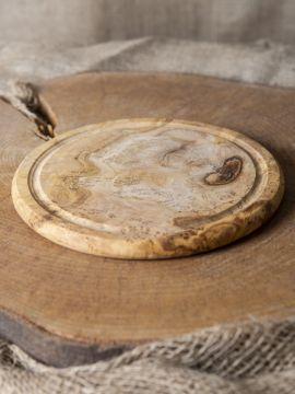 Planche en bois d'olivier