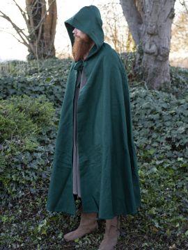 Cape en laine en vert