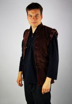 Veston médiéval Ludwig, en maron