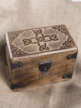 Coffret en bois motifs noeuds celtiques