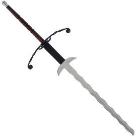 Épée à double solde avec lame flamboyante