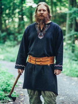 Tunique viking Fenrir noire