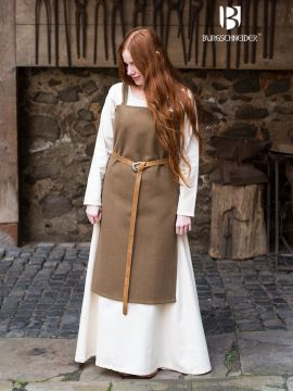 Robe viking Jodis en vert sous-bois