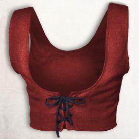 Bustier en coton rouge