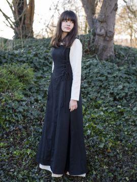 Robe médiévale sans manche en noir