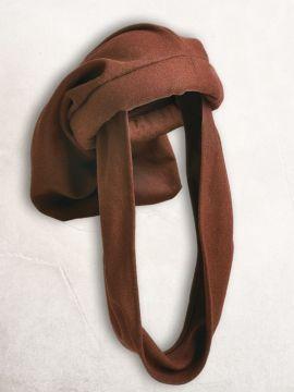 Chapeau sac en laine, marron