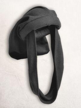 Chapeau sac en laine, noir
