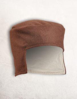 Bonnet médiéval en laine marron