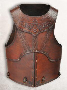 Armure en cuir Mantikor, marron