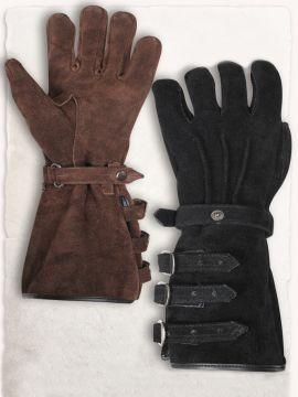 Paire de gants en daim S | noir