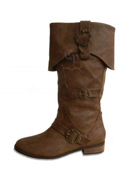 Bottes de pirates en marron