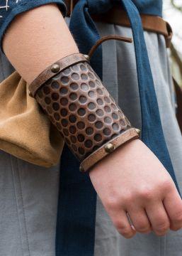 Protège-bras simple en cuir, grand modèle