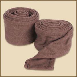 Bandes à enrouler en tissu épais marron (250 cm)