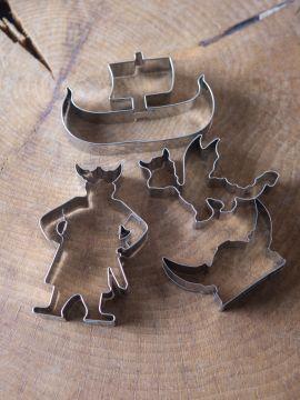 """Ensemble 4 emporte-pièces """"Vikings"""""""