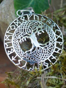 Pendentif Arbre de vie et Runes Futhark