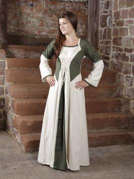 Robe bicolore en lin L/XL