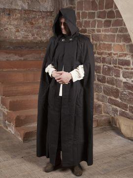 Manteau en coton, en noir