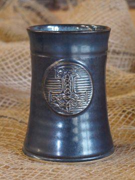 Mug en céramique Marteau de Thor, en bleu-gris