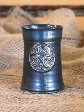 Mug en céramique Triskel, en bleu-gris
