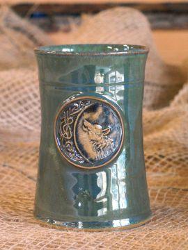 Mug en céramique Loup, en vert
