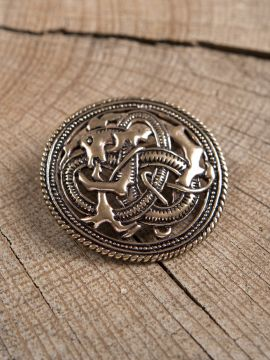 Broche viking dragon cracheur de feu