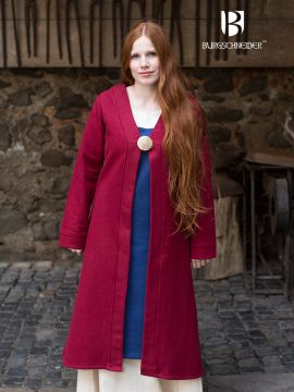 Manteau Viking Aslôg, en rouge