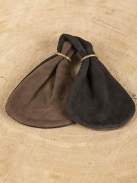 Bourse bicolore marron-noire