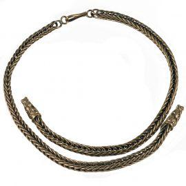 Collier Viking mailles tressées, 55 cm