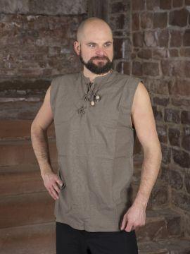 Chemise sans manche en gris