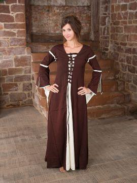 Robe médiévale à manches trompette