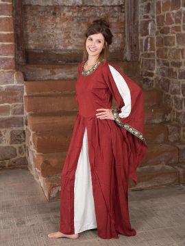 Robe médiévale à gros galons