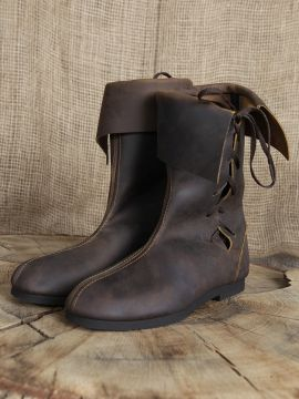Bottines médiévales en cuir 38 | marron