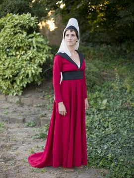 """Robe burgonde """"Marguerite d'York"""""""