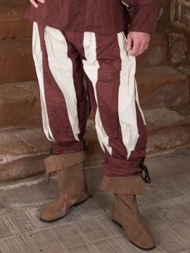 Pantalon lansquenet marron/écru