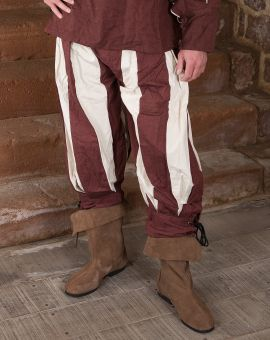 Pantalon lansquenet marron/écru