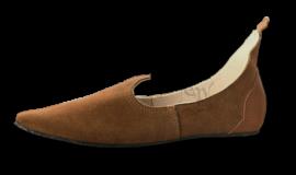 Chaussures médiévales, semelle en caoutchouc, marron