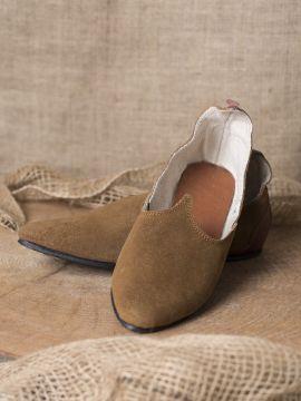 Chaussures médiévales, semelle en caoutchouc, marron 37