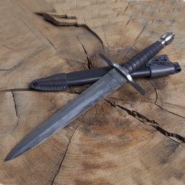 Dague forgée avec fourreau en cuir