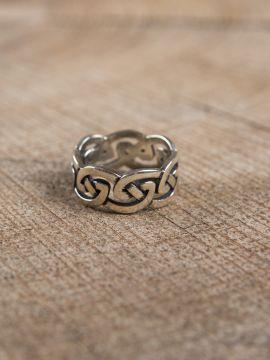 Bague en argent n½ud celtique