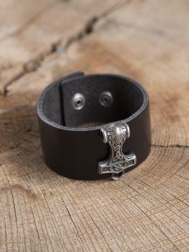 Bracelet cuir Marteau de Thor