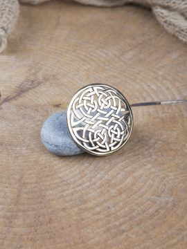 Grande fibule celtique en bronze
