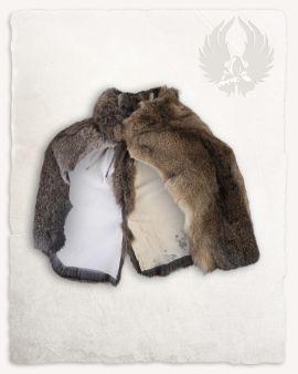 Etole en fourrure allemande de lapin gris