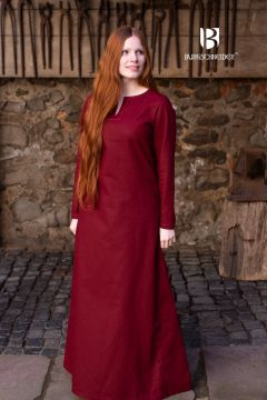 Robe en coton bordeaux