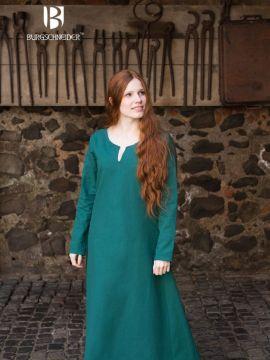 Robe en coton en vert